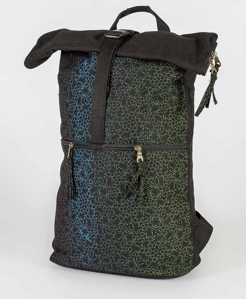 LSD Molecule Roll-Top Backpack
