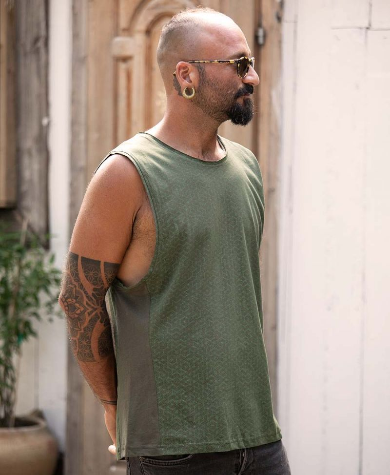 Seeds Tank Top ➟ Olive