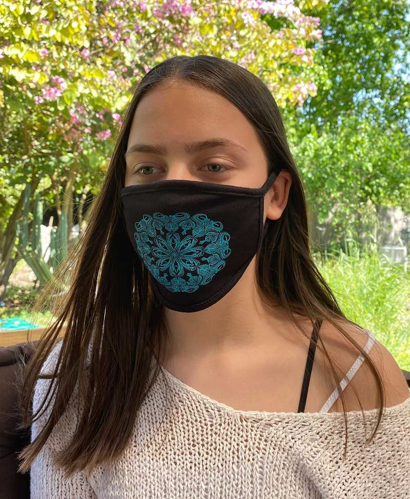 Lotusika Face Mask ➟ Black