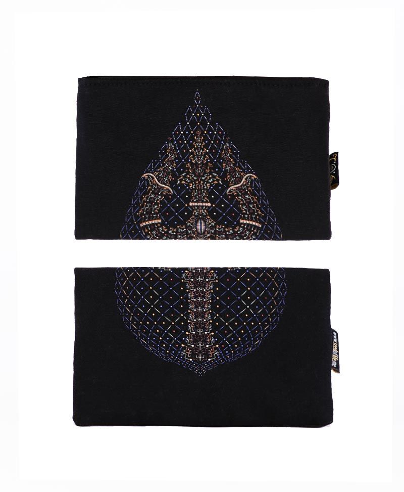 psychedelic clothing canvas wallet