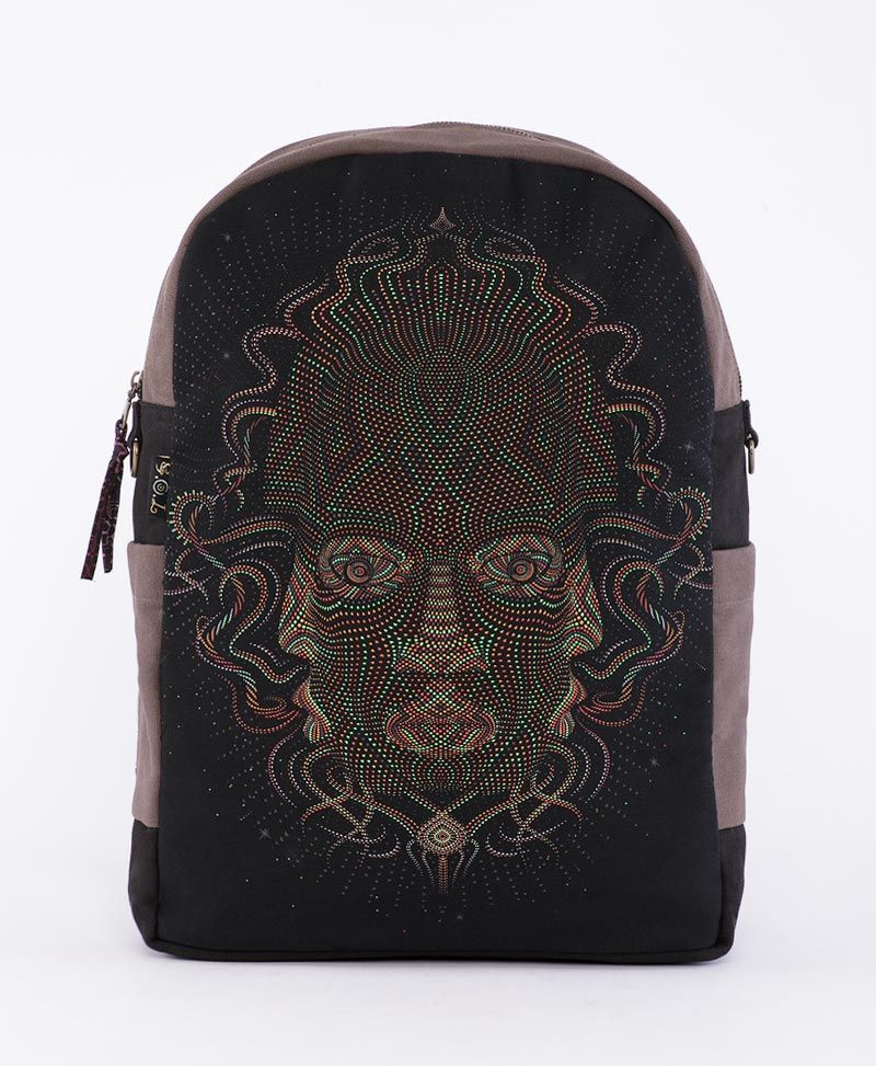 psychedelic clothing canvas backpack for laptop