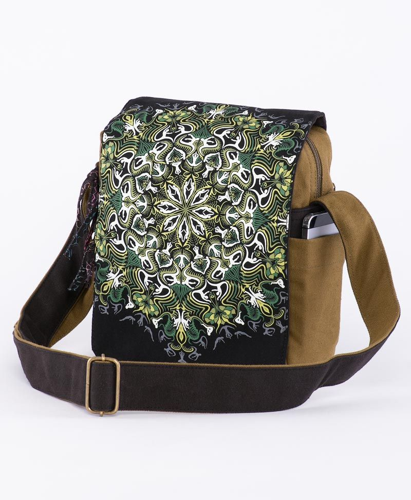 psychedelic clothing cross body bag
