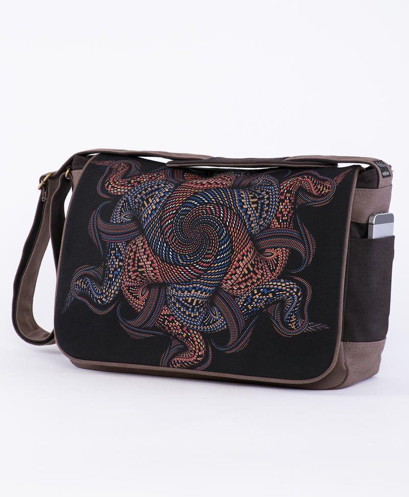 psychedelc clothing laptop messenger bag