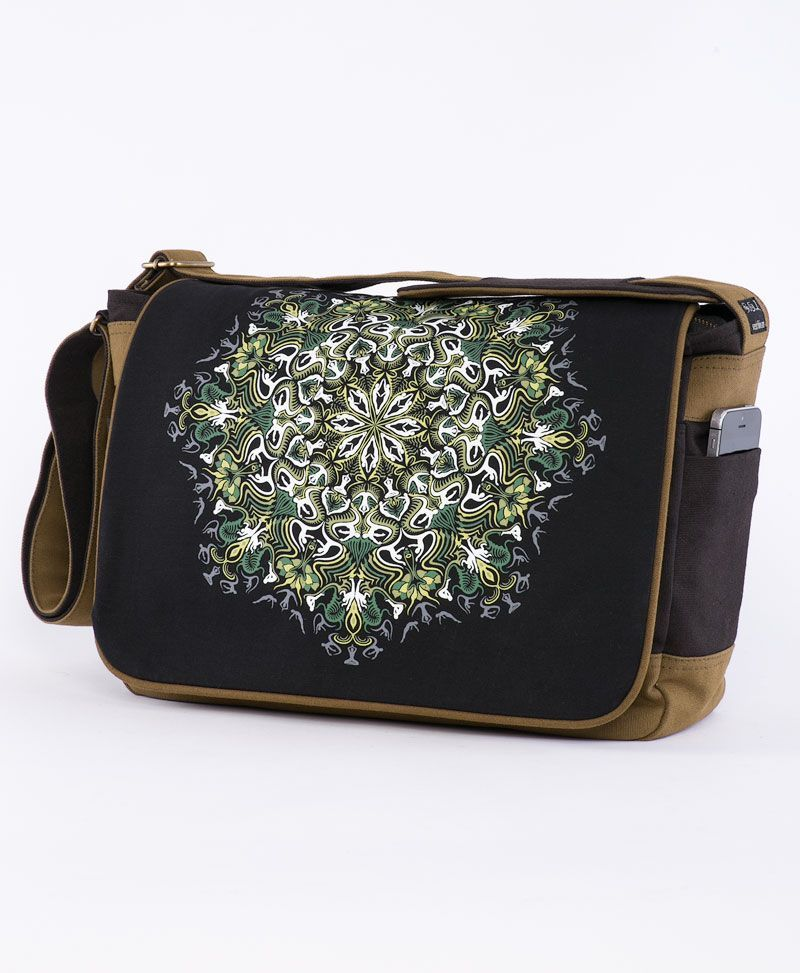 psychedelic clothing laptop messenger bag