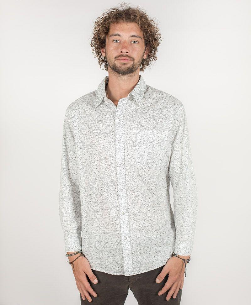 psy-clothing-men-button-down-long-shirt-button-up-white