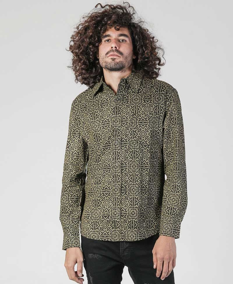 spy-clothing-men-button-down-shirt-long-sleeve-geometric-hexagon
