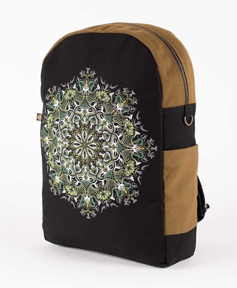 psychedelic-backpack-laptop-bag-lotus-mandala-black-brown