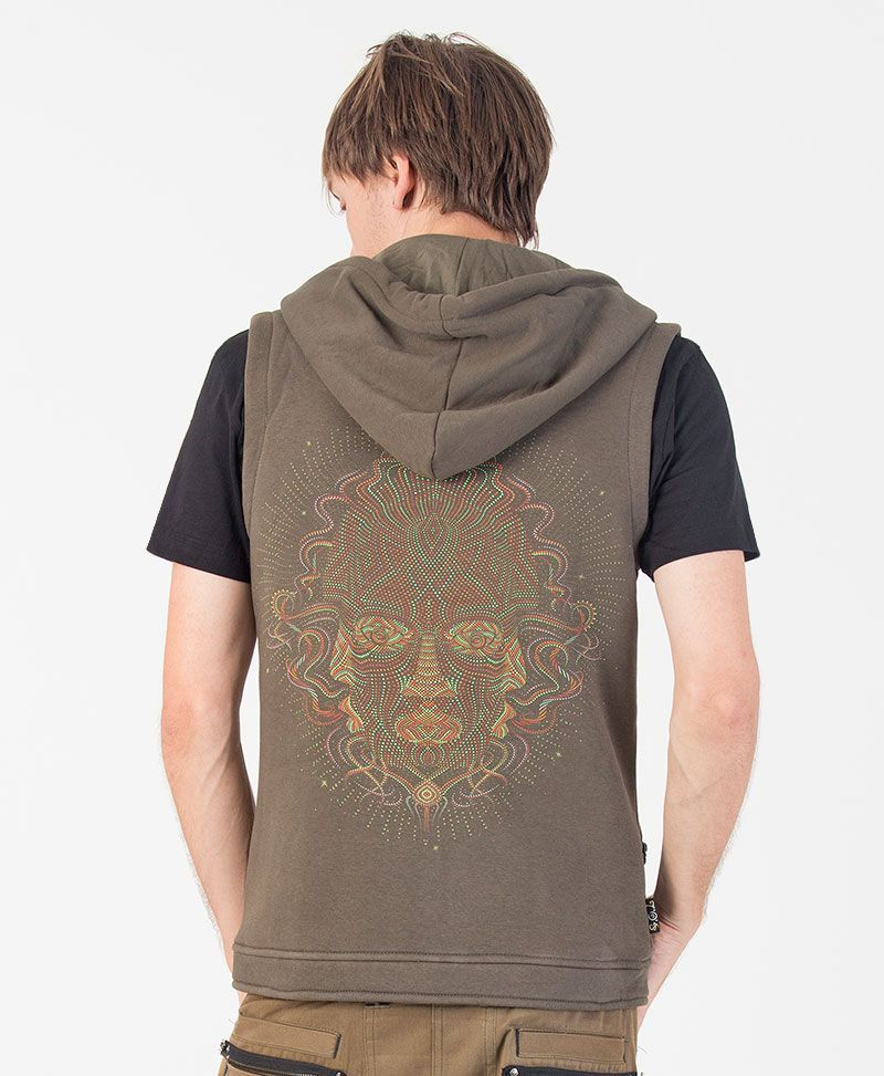 TriMurti Hooded Vest ➟ Olive