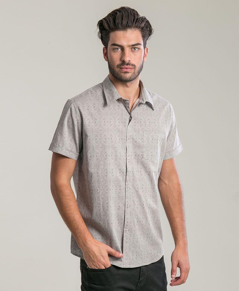 psychedelic clothing mens button up shirts shipibo Kené