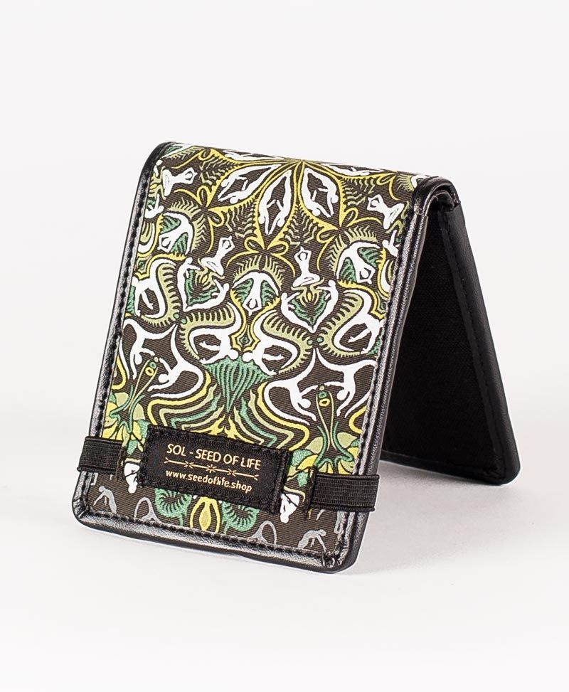psychedelic mens wallet bifold slim wallet lotusika