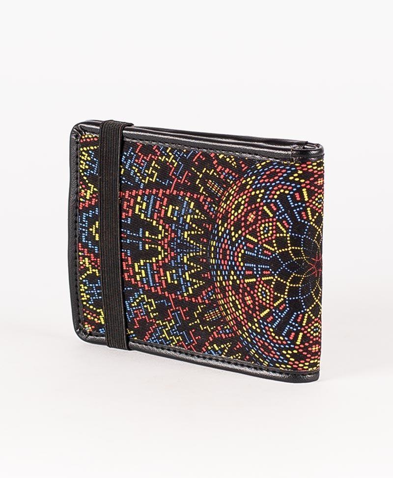 psychedelic mens wallet bifold slim wallet mexica