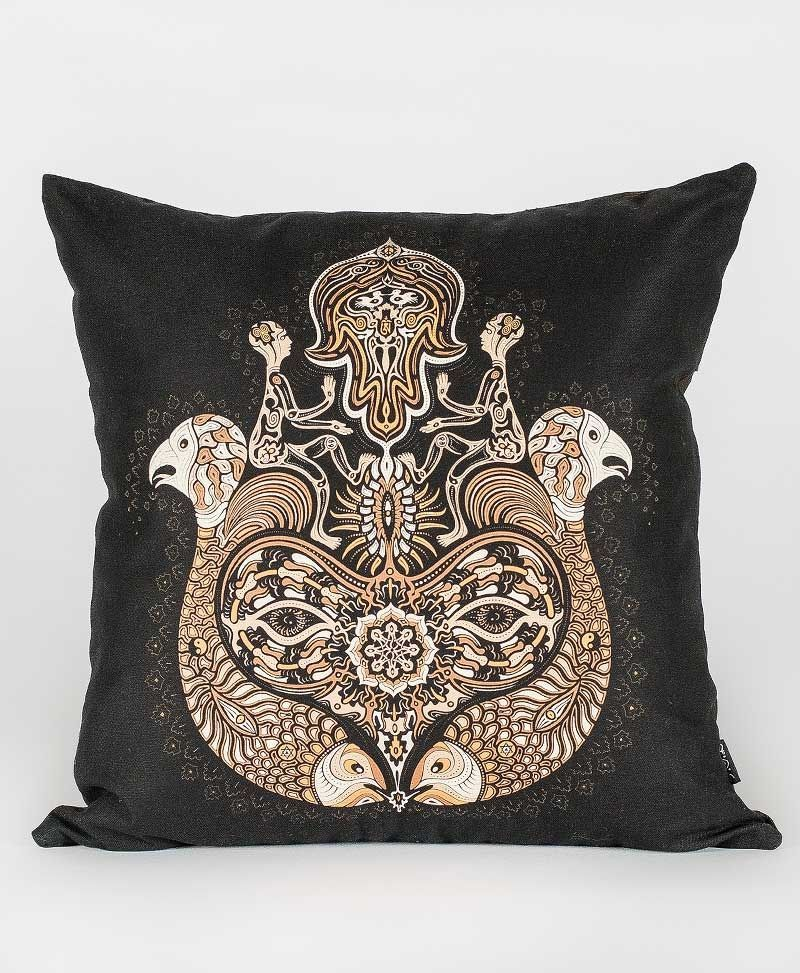 Psytrance Fashion Clothing Sacred Geometry hamsa Cushion Cover