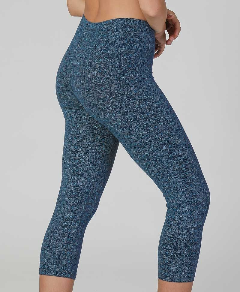 Shipibo print cotton yoga leggings for women