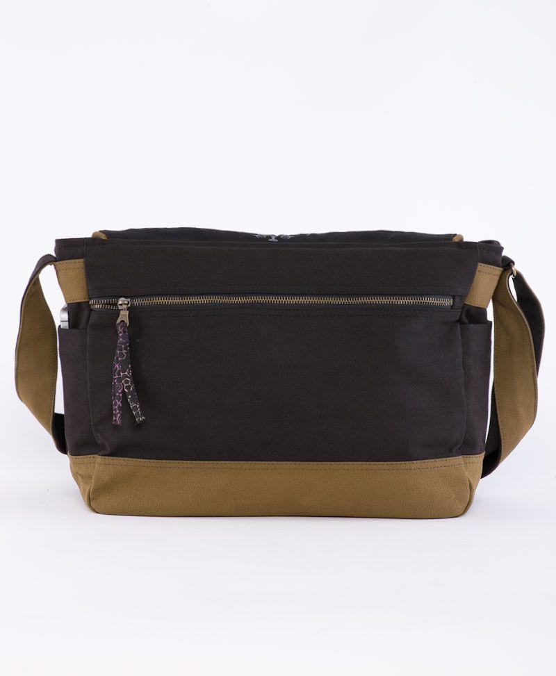 psychedelic clothing laptop messenger bag