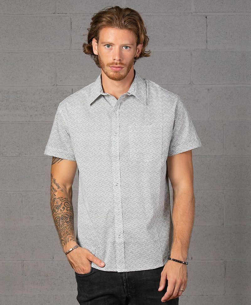 atom-celtic-print-button-down-men-shirt-short-sleeve-white