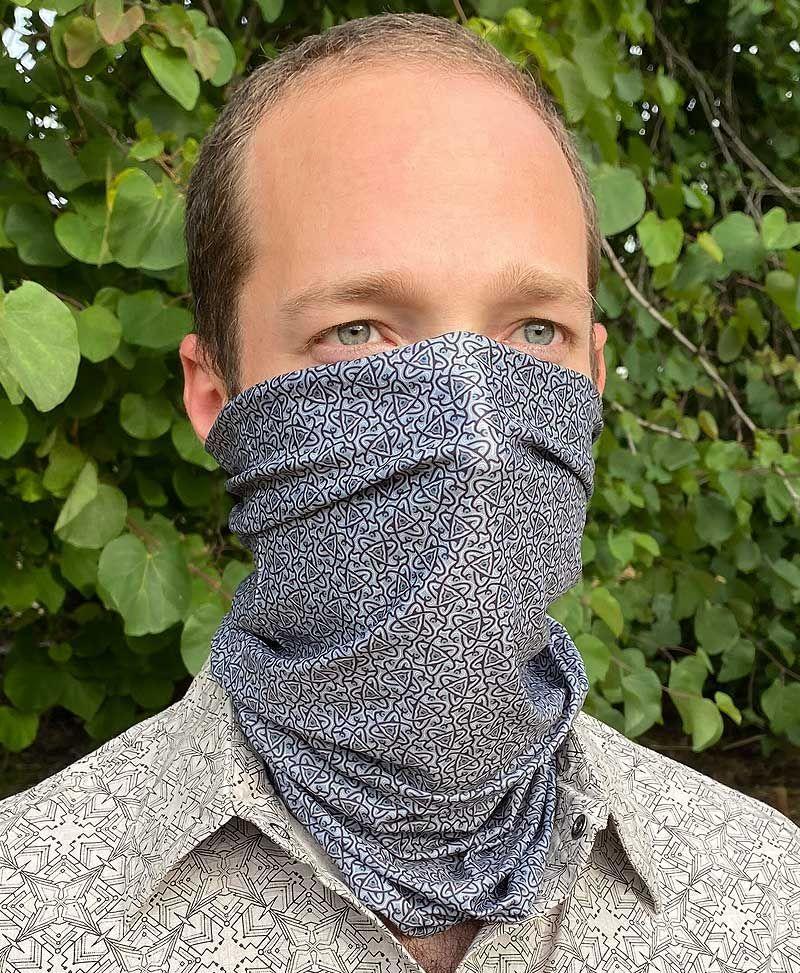 Psychedelic Festival Neck Gaiter Bandana Snood Face Mask Scarf geometric
