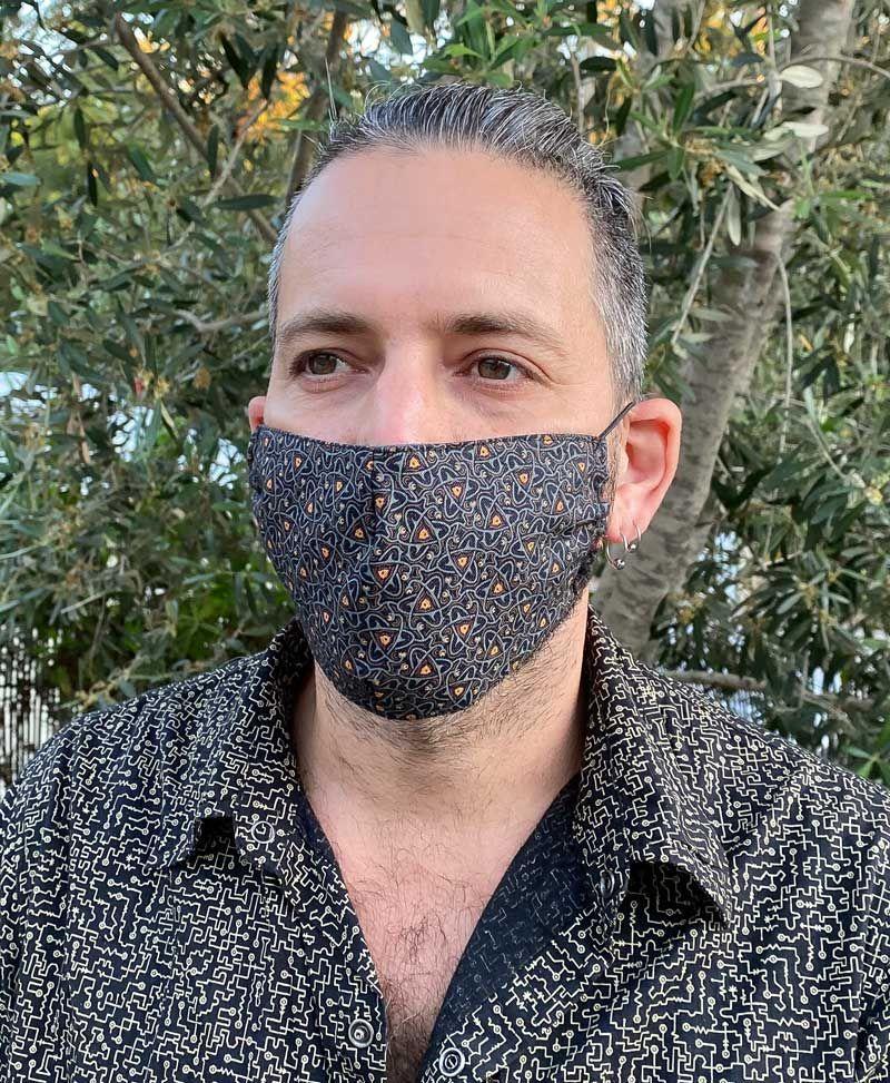 set of 5 face masks psychedelic