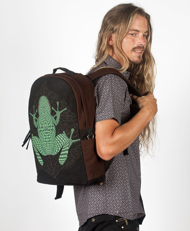 frog-canvas-round-backpack-laptop-bag-psychedelic-gift