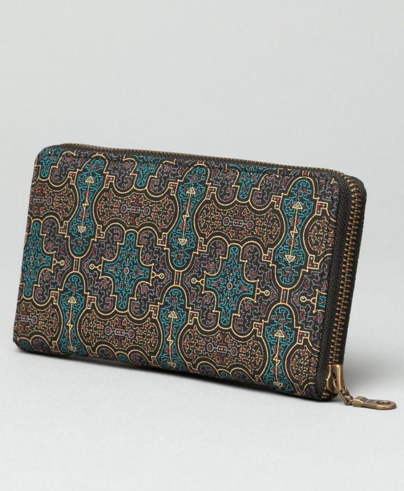 shipibo wallet for women vegan canvas