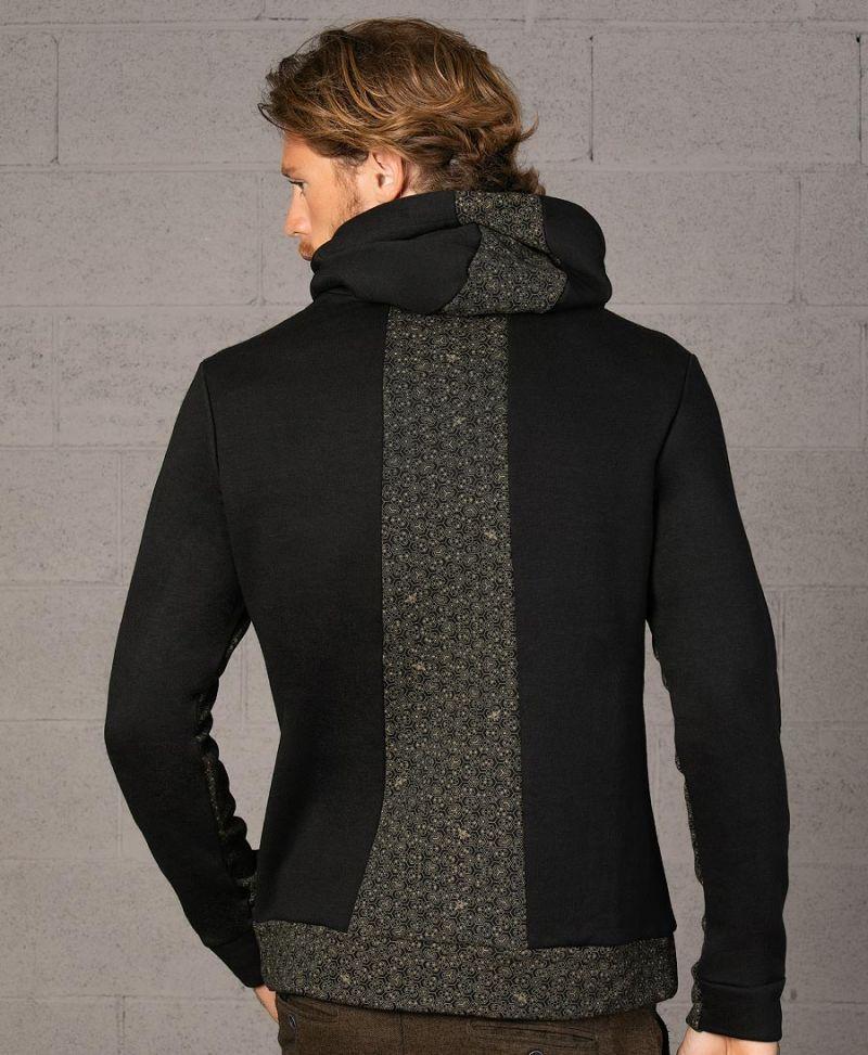 bee hive print pullover hoodie sweatshirt black unisex