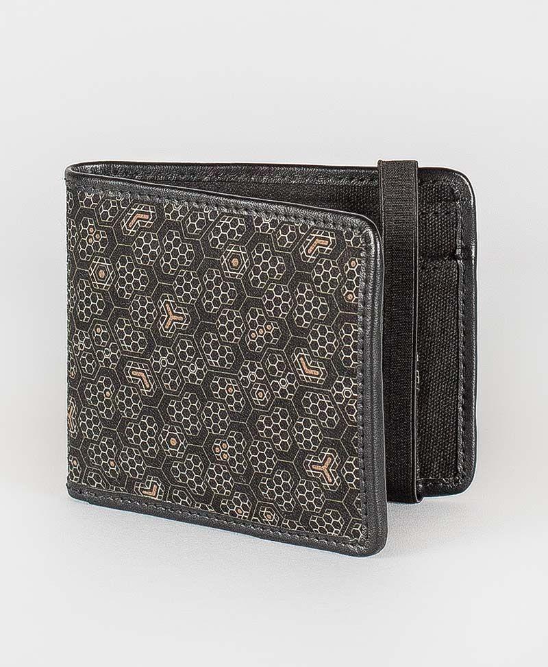bee hive mens wallet canvas bifold slim wallet