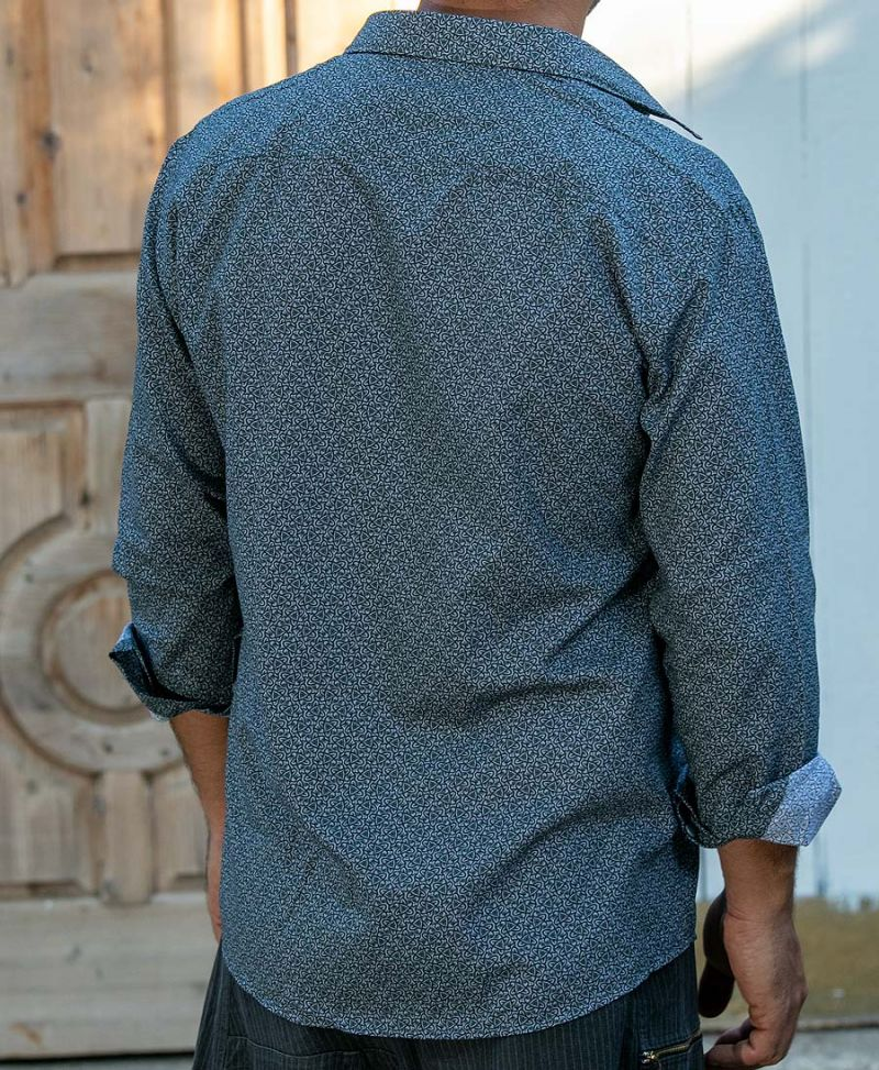 psy-elegant-men-button-up-shirt-long-sleeve-grey-texture
