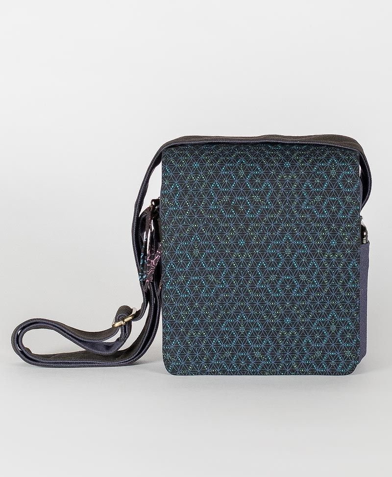 psy trance festival bag crossbody canvas sacred geometry seed of life