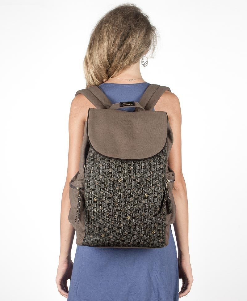 psy trance canvas laptop backpack bee hive beehive