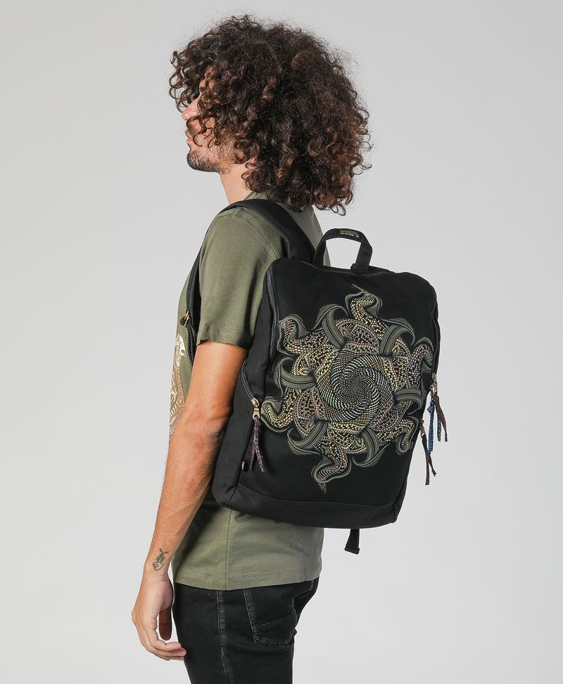 Psytrance clothing fashion laptop backpack