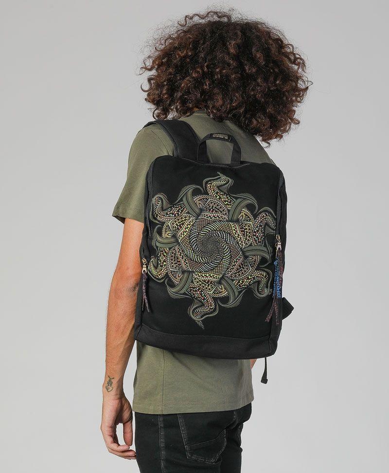 Psytrance clothing fashion laptop backpack
