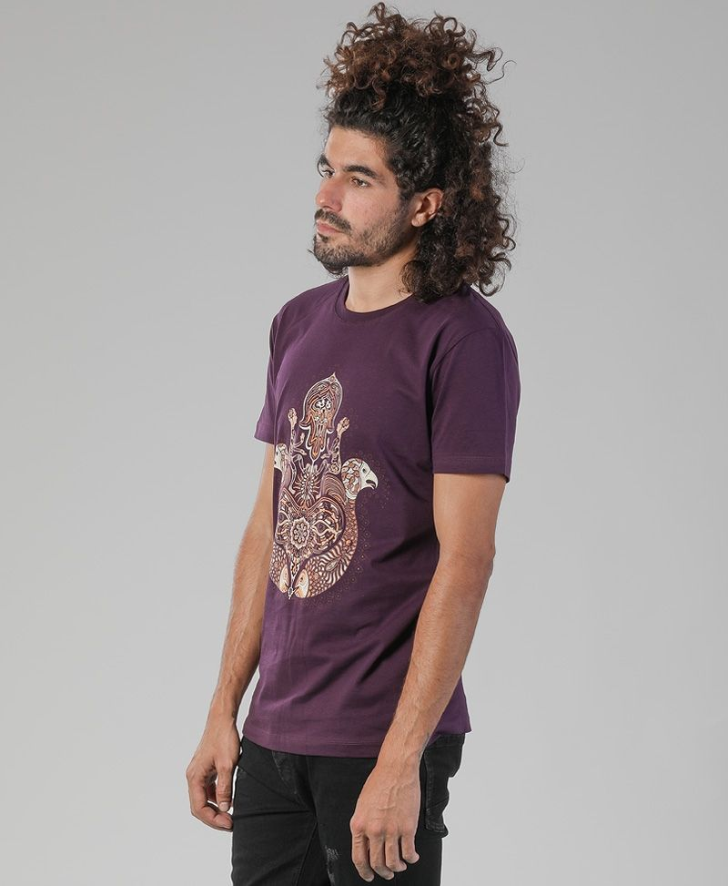 psy trance clothing men hamsa t shirt