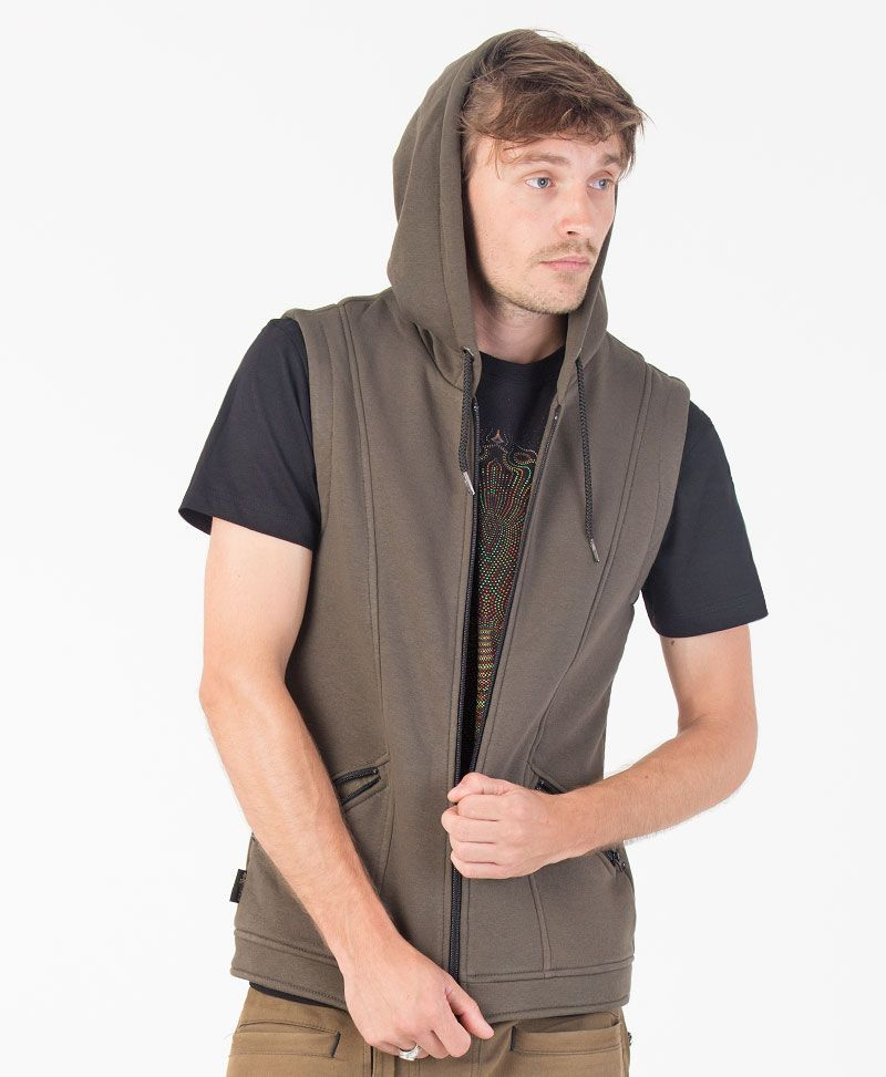 TriMurti Hooded Vest ➟ Olive
