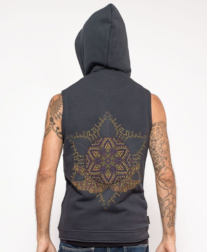 psychedelic clothing mens vest sacred geometry anahata