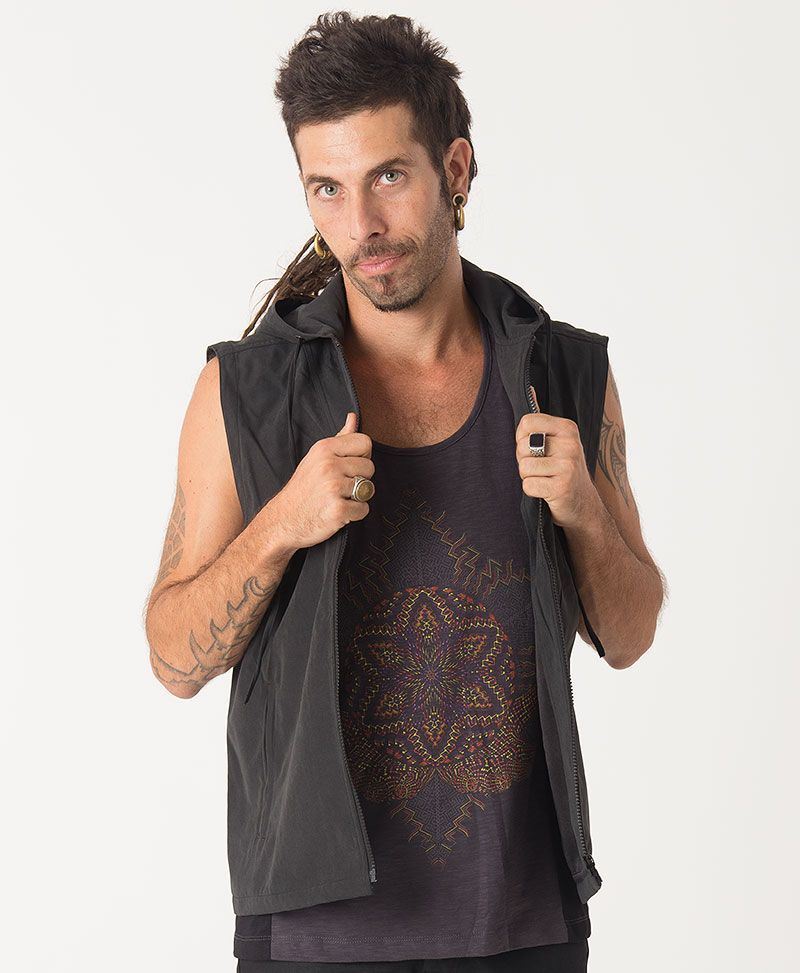 psychedelic clothing mens vest