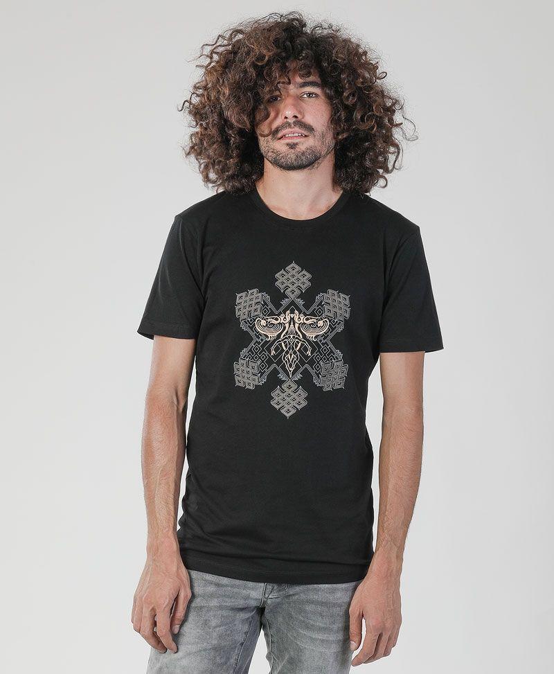 psy trance sacred geometry clothing men t shirt black