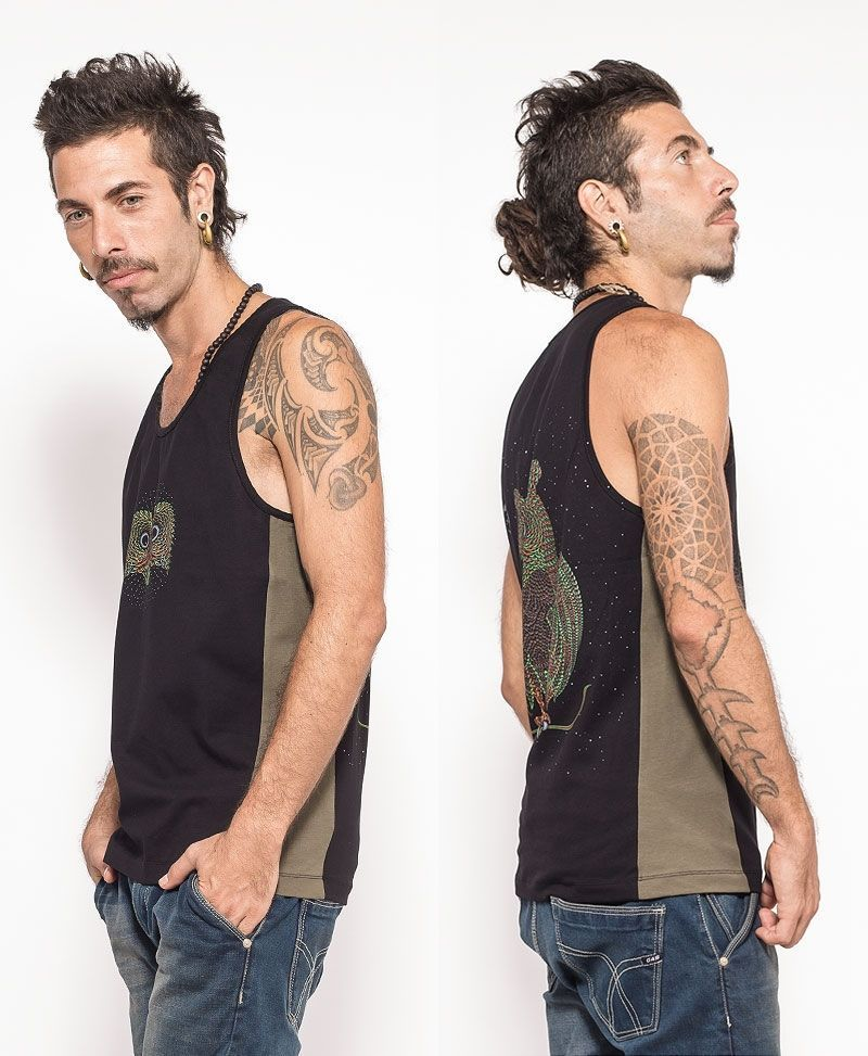 psychedelic clothing men tank top owl