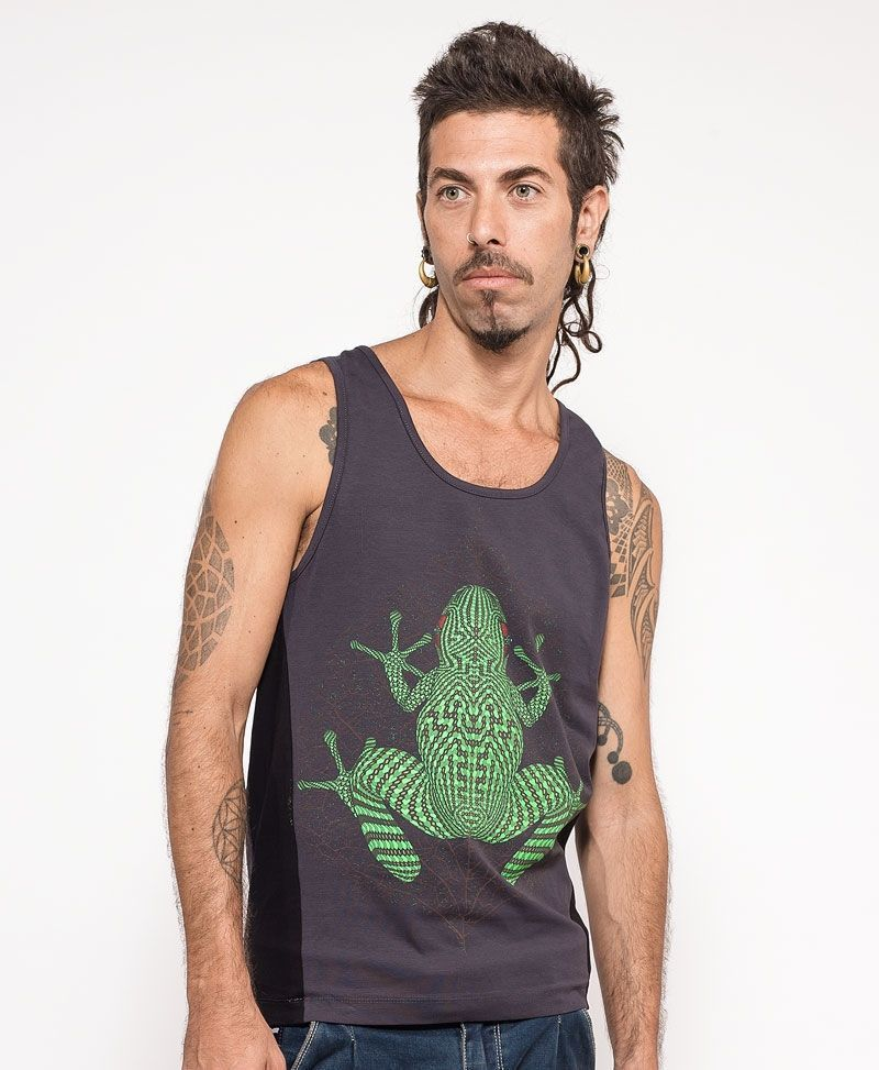 psychedelic clothing men tank top kambo frog