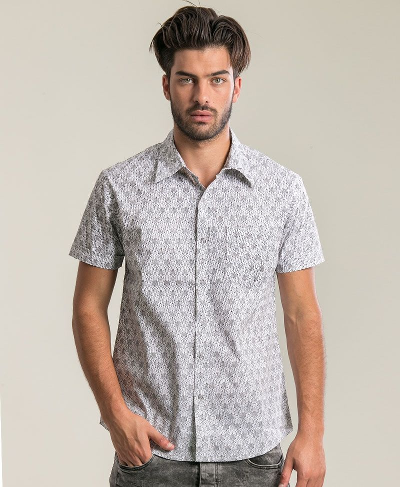 psychedelic clothing mens button up shirts cubic