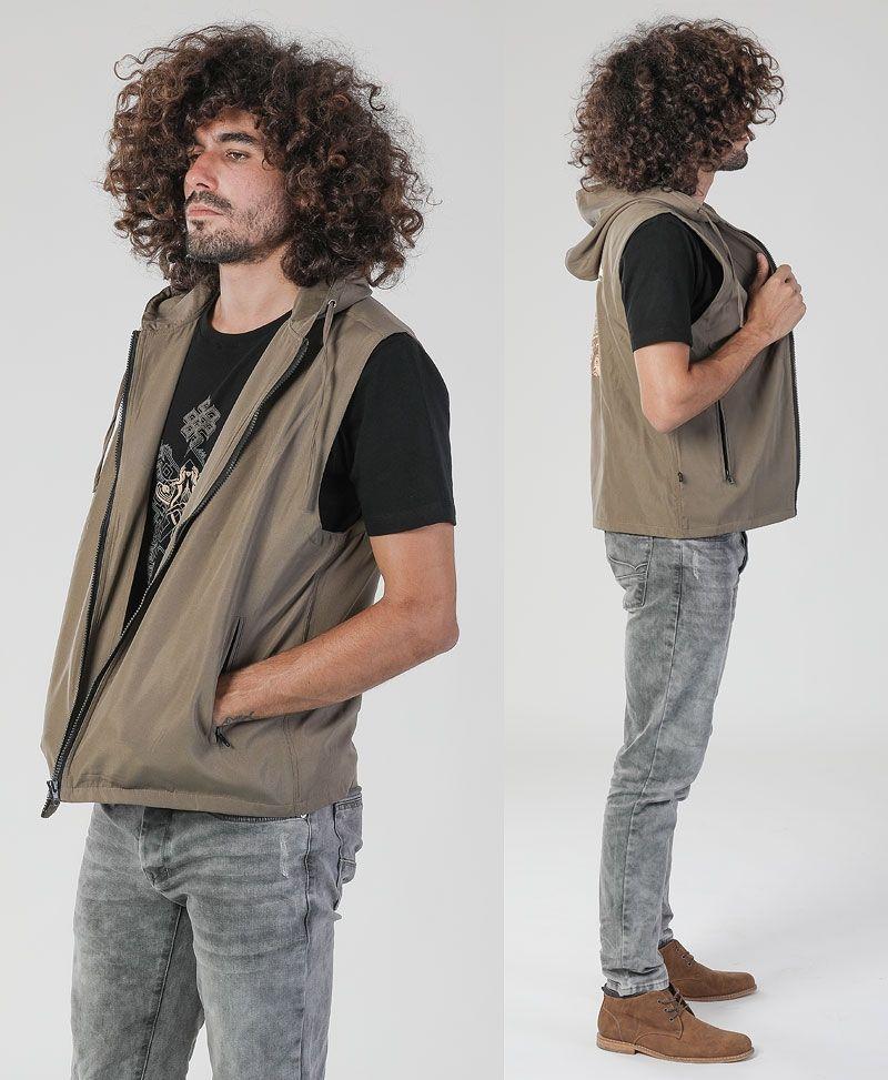psychedelic clothing mens vest hamsa