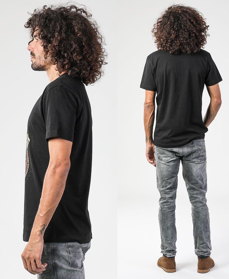 psychedelic clothing men hamsa t shirt black