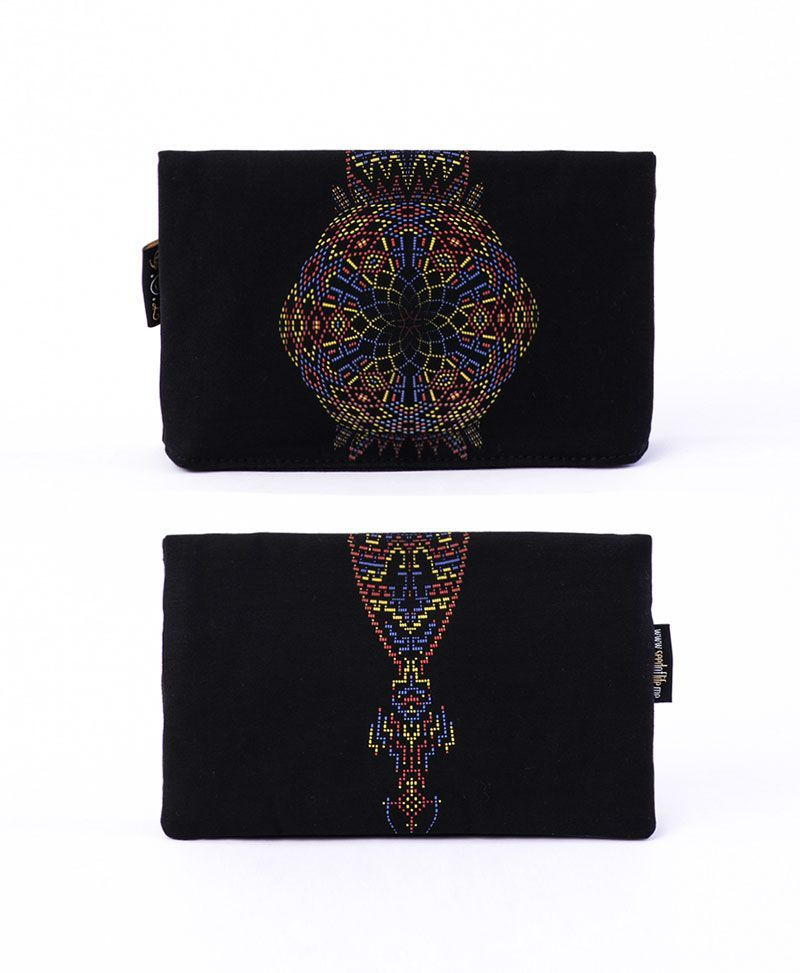 psychedelic clothing wallet pouch