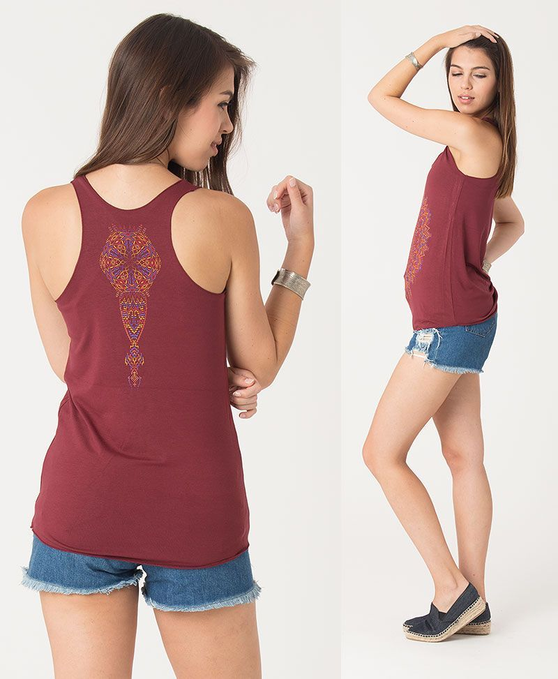 psychedelic t shirt women tank top