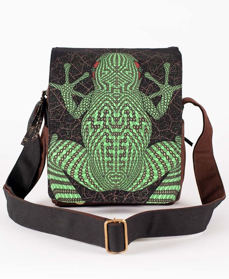 psychedelic clothing cross body bag kambo