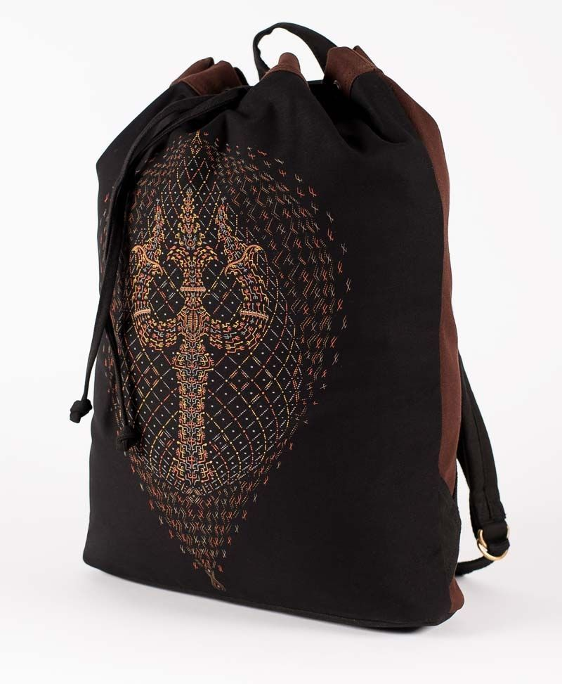 psychedelic-clothing-padded-straps-drawstring-backpack-back-sack-bag-trishul