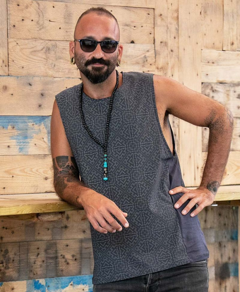 Hexagon Full Print Men Tank Top Alternative Streetwear