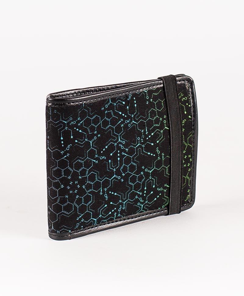 psychedelic mens wallet bifold slim wallet lsd molecue