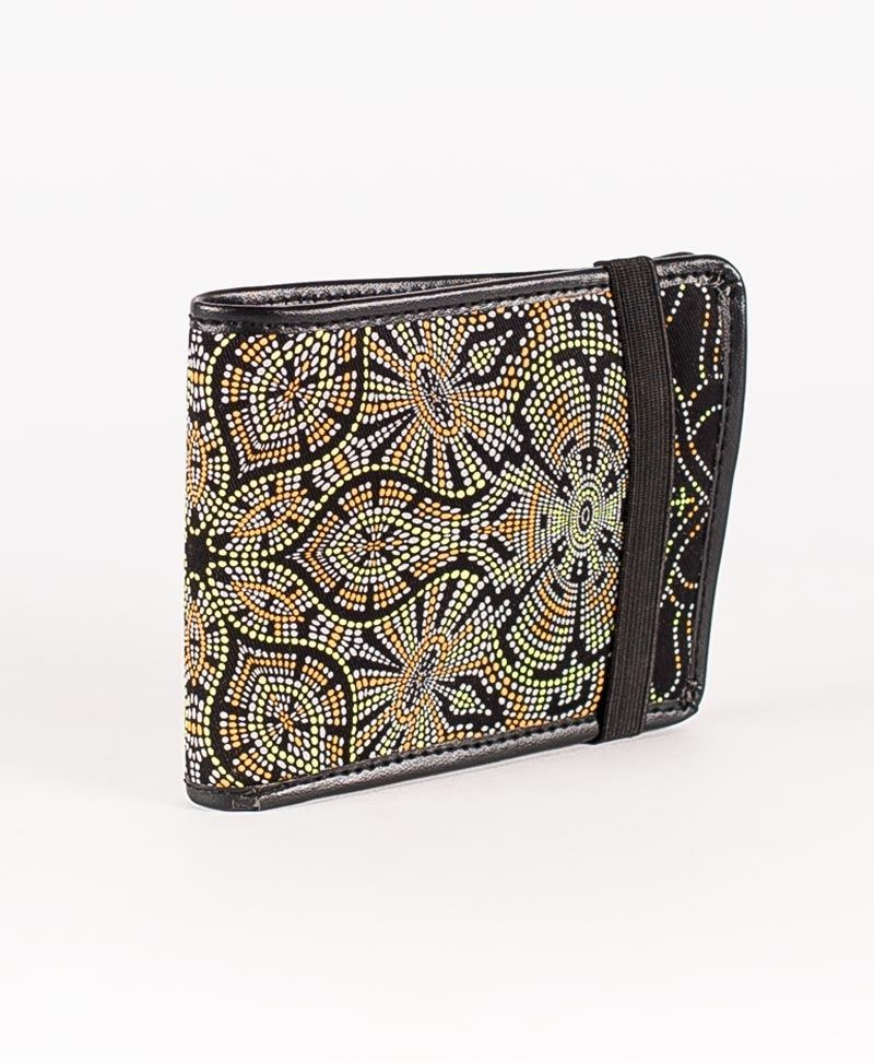 psychedelic mens wallet bifold slim wallet peyote