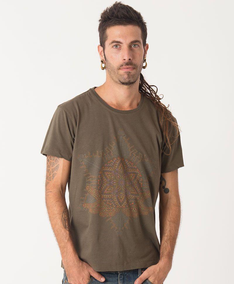 sacred geometry tshirt men clothing