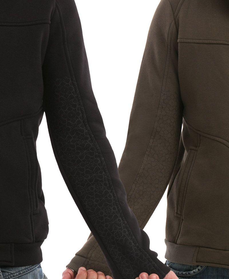psychedelic clothing men hoodie jacket grey trishul