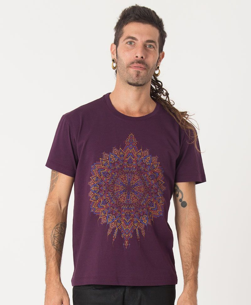 mandala shirt men clothing